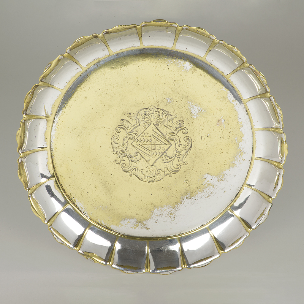 An Unusual George II Silvered-brass Strawberry Dish.
