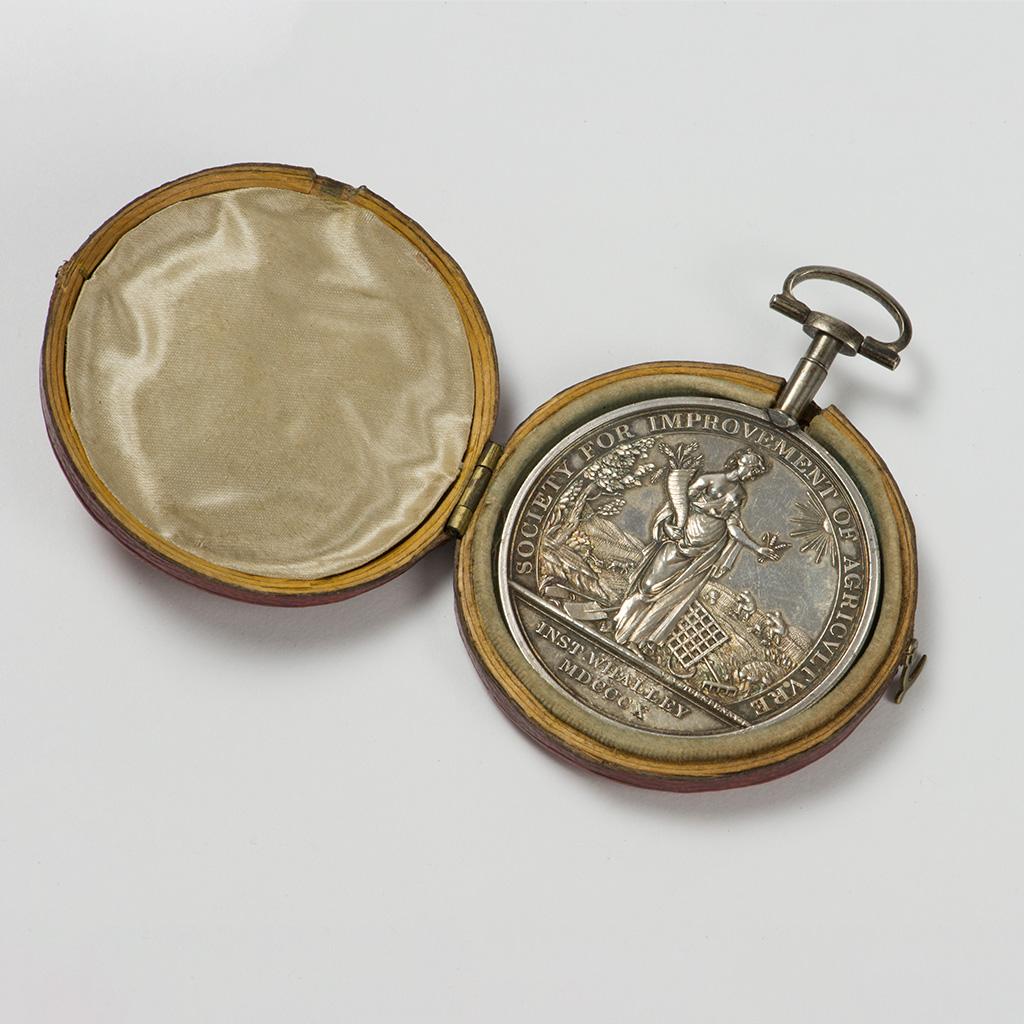 A George III Silver Prize Medal For Sir Robert Peel.
