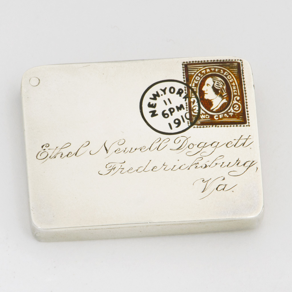 Ethel Doggett's Silver Stamp Case.