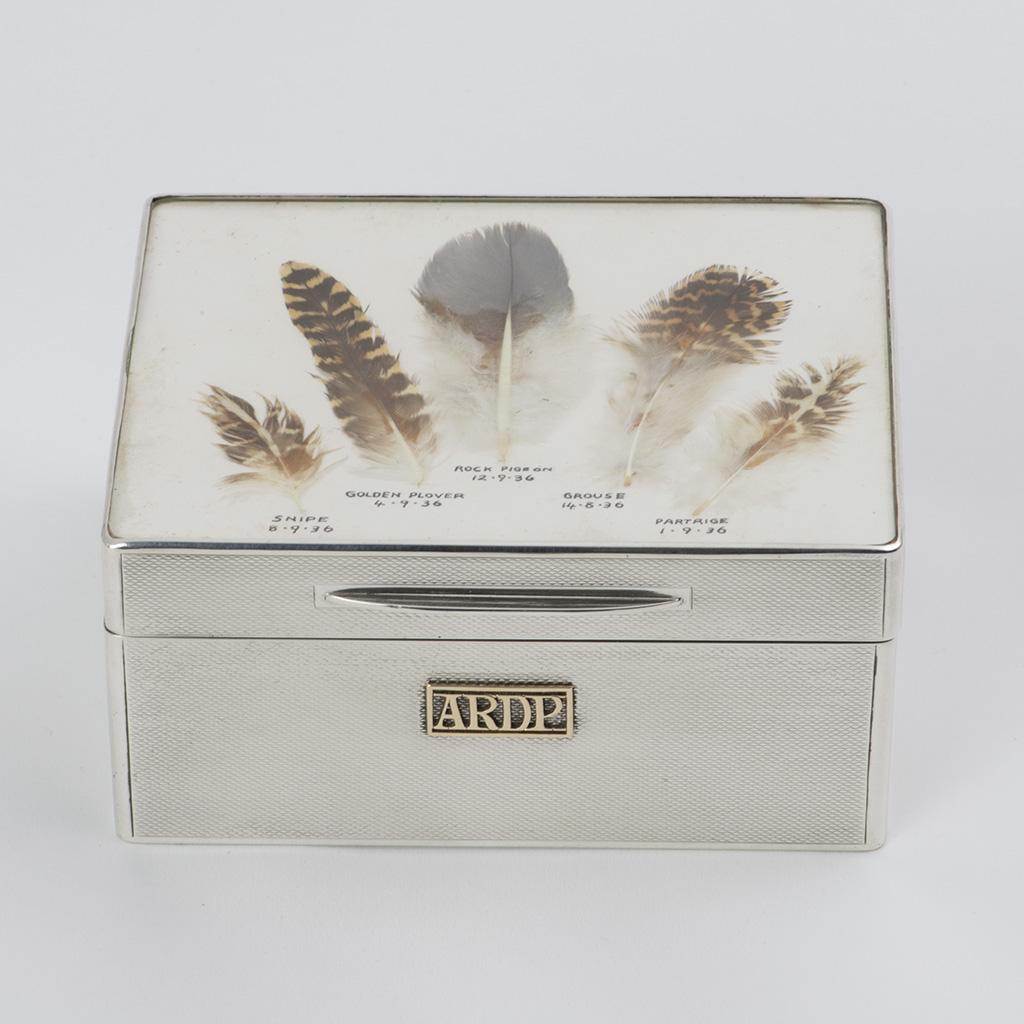 An Interesting Asprey And Company Silver 1930's Cigarette Box.