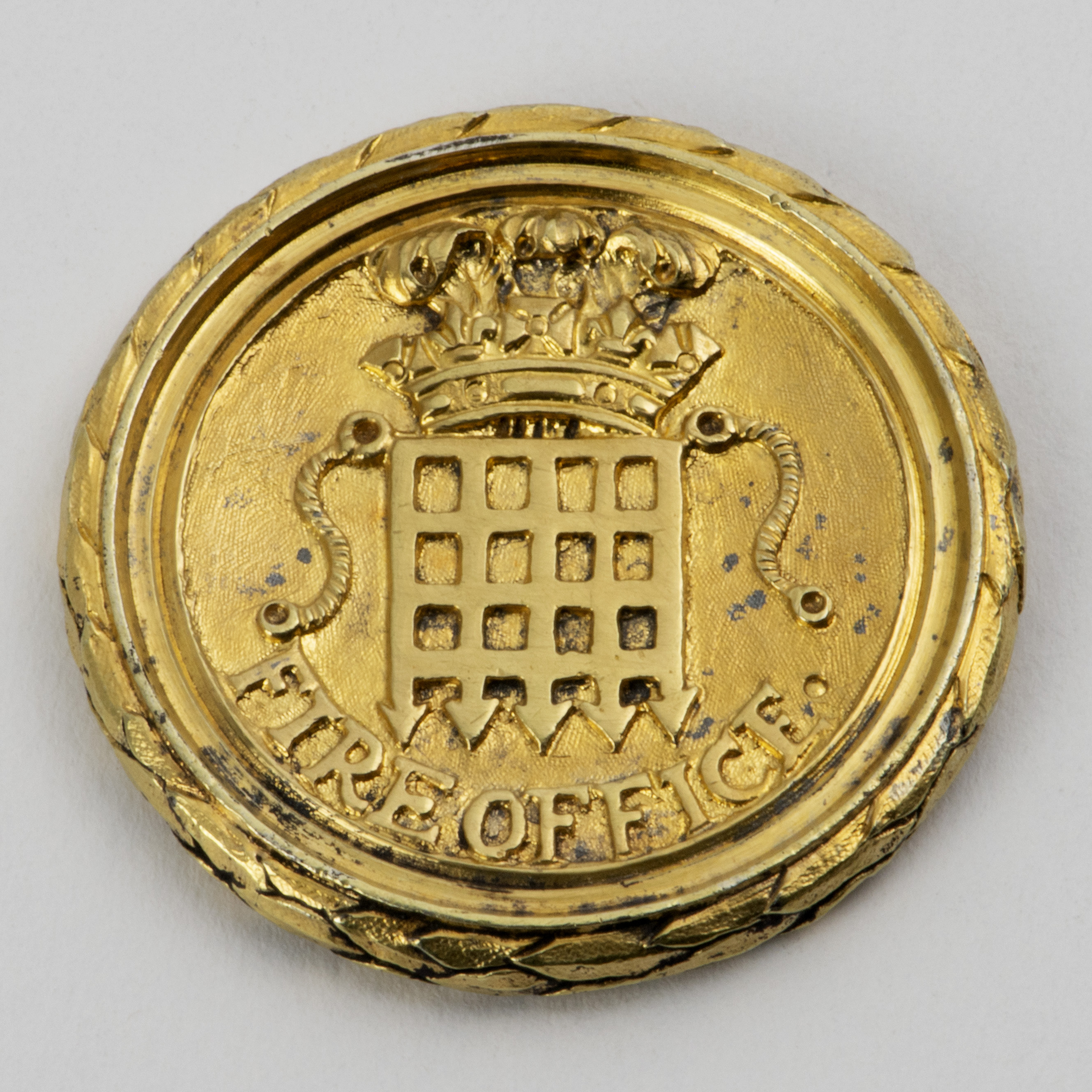 A George III Silver-gilt Pass For The Westminster Fire Office Insurance Company.