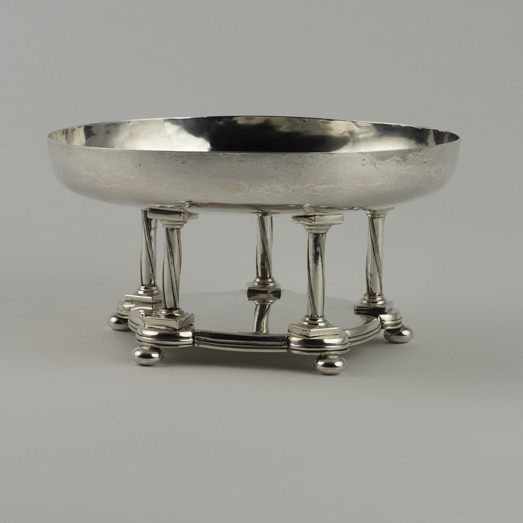 An Arts And Crafts Silver Dish By Spencer Carey Curtis.