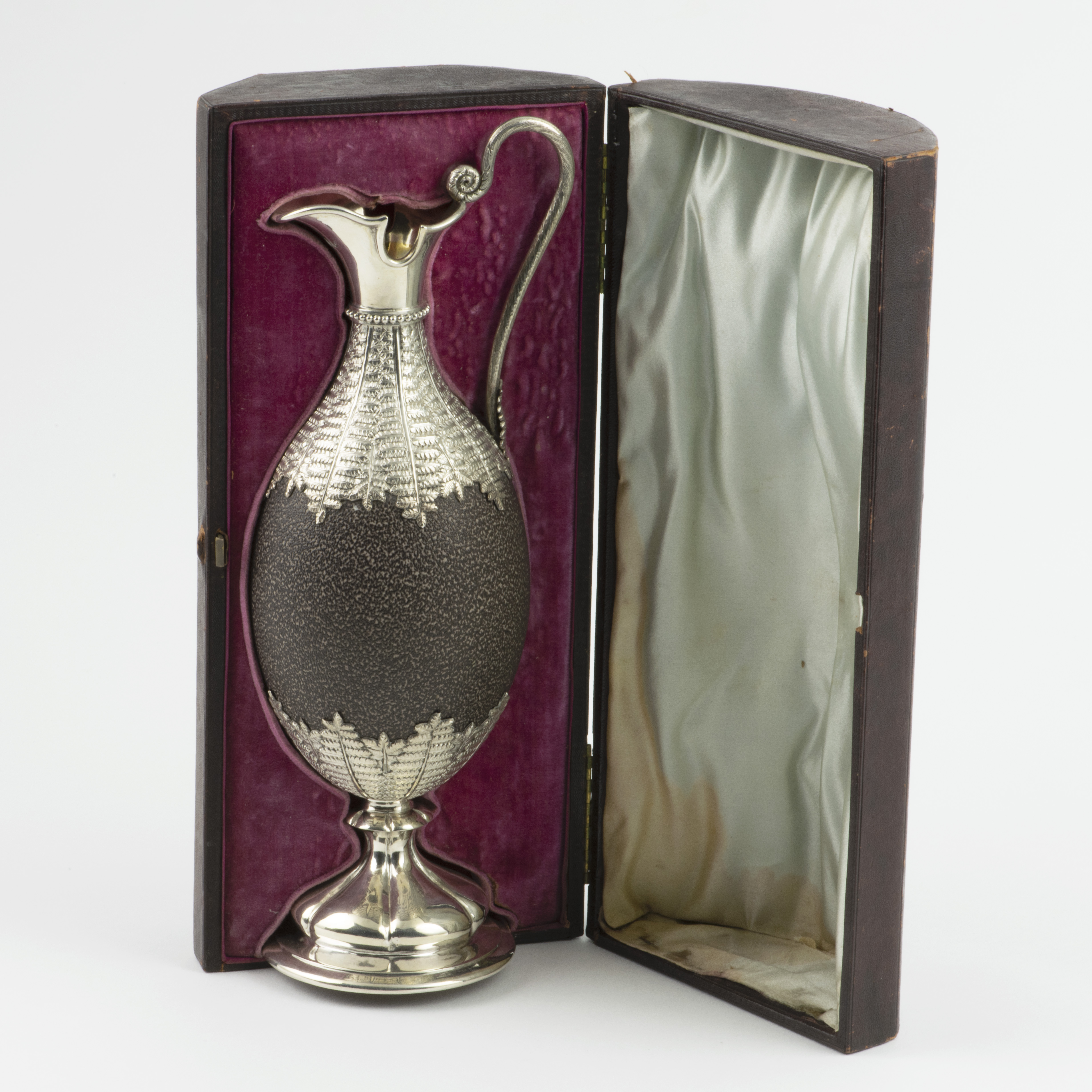 A Victorian Silver-mounted Emu Egg Jug By Kilpatrick And Company.