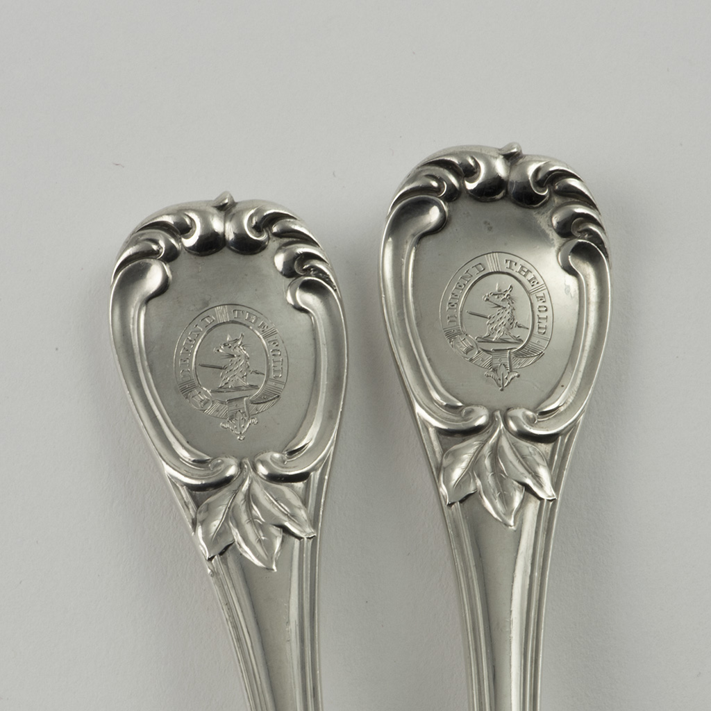 A Pair Of Victorian Silver Salad Servers In An Unrecorded Pattern.