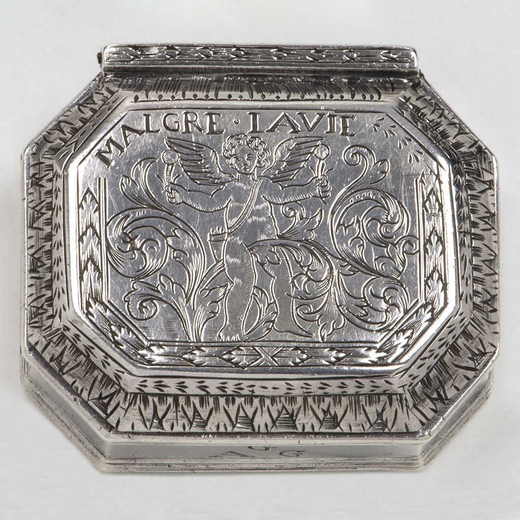 An Unusual Late 17th Century English Silver Box.