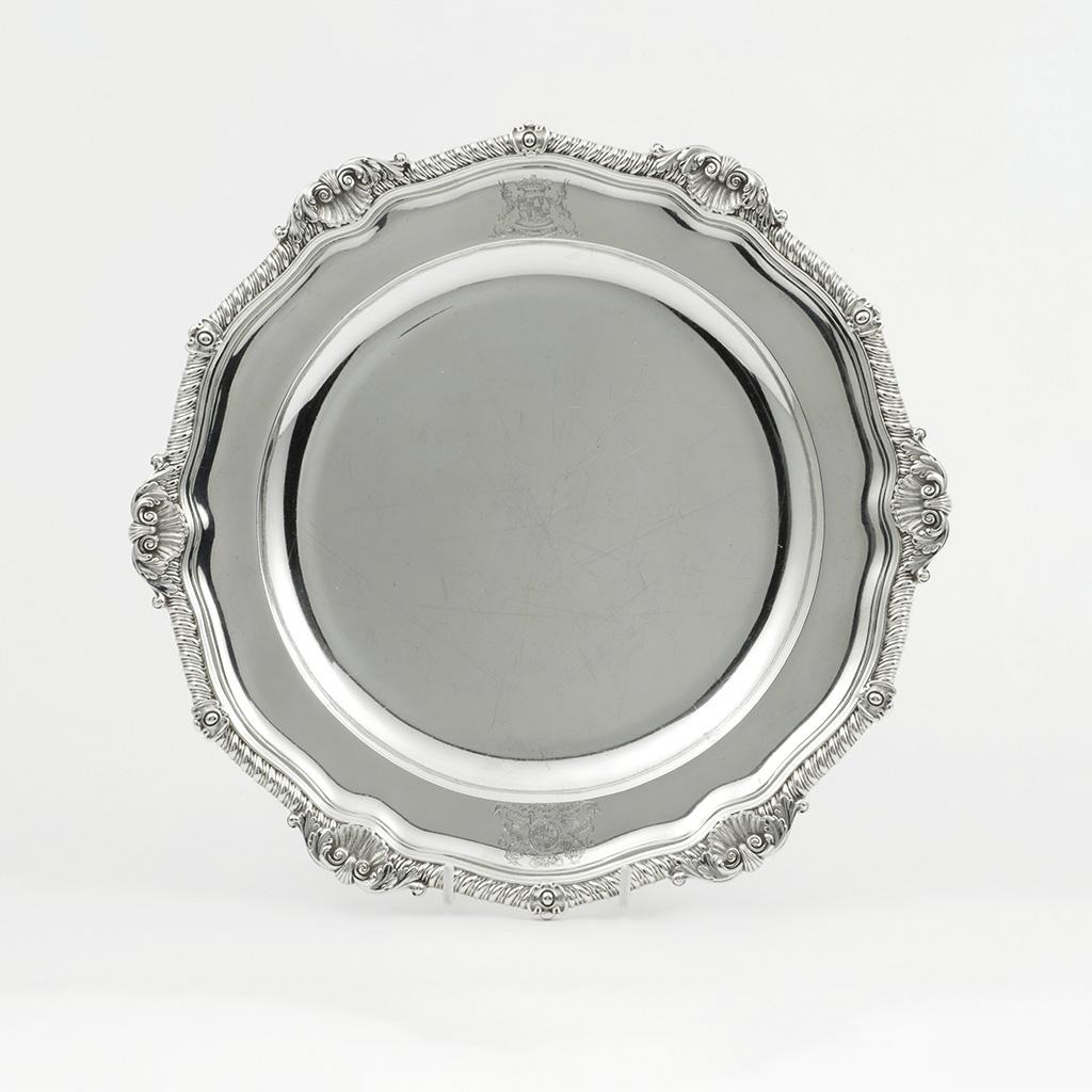 Paul Storr. The Duke Of Hamilton's Silver Second Course Dish Whilst Ambassador In Russia.