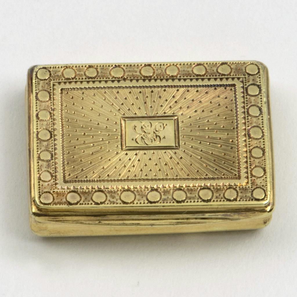 A Bright-cut Silver-gilt George III Vinaigrette.