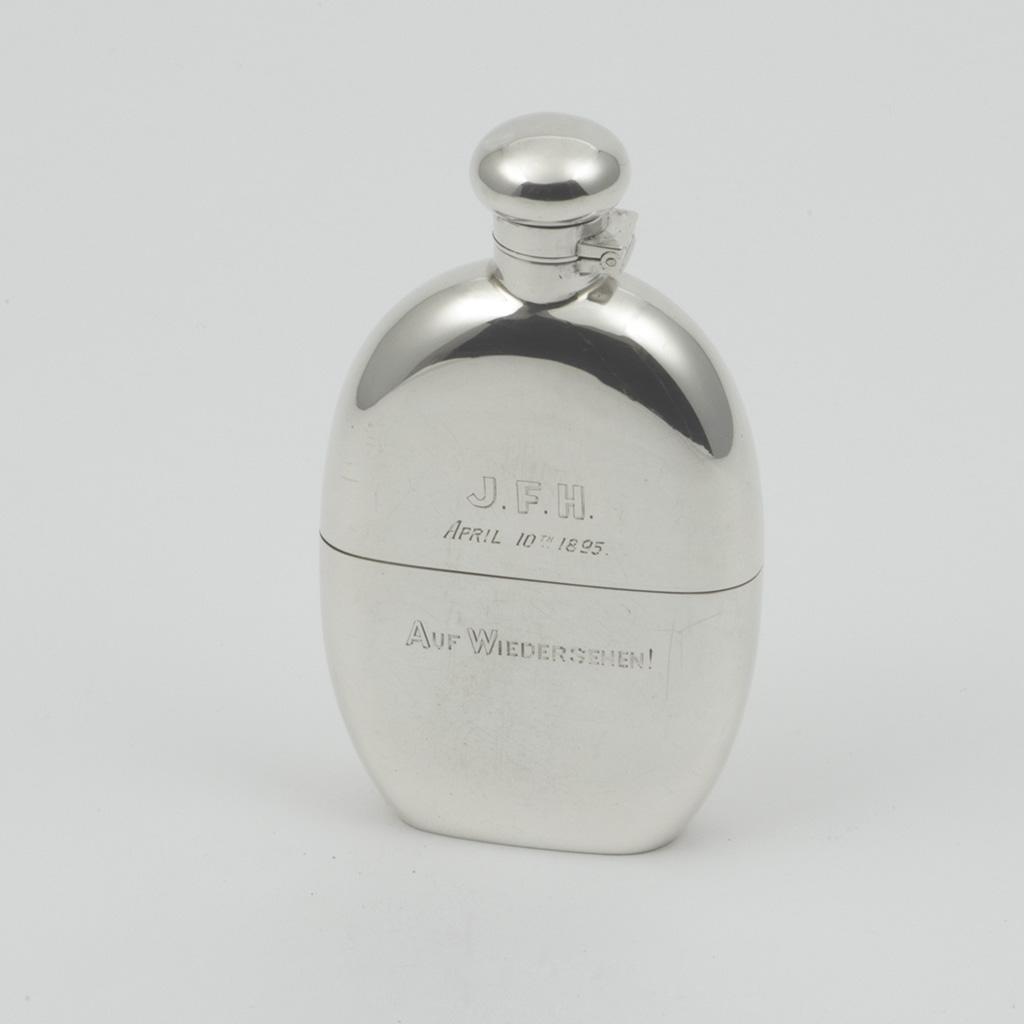 An Australian Silver Flask.