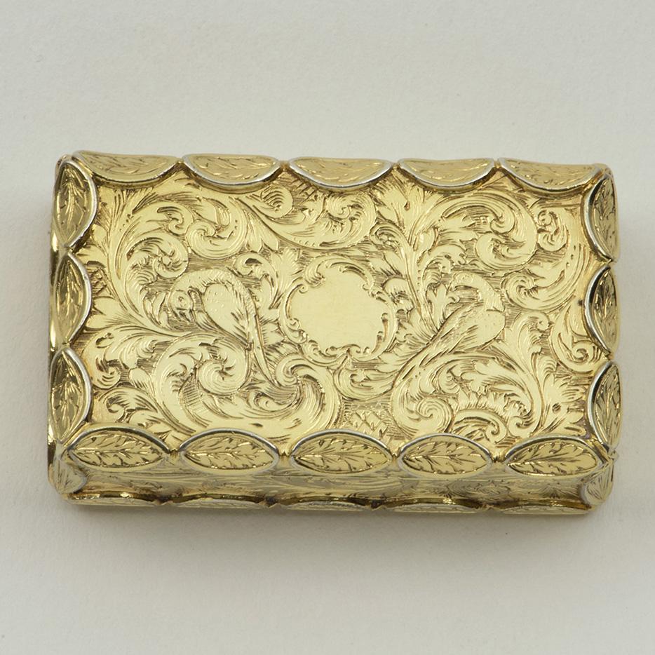 A Victorian Silver-gilt Vinaigrette.