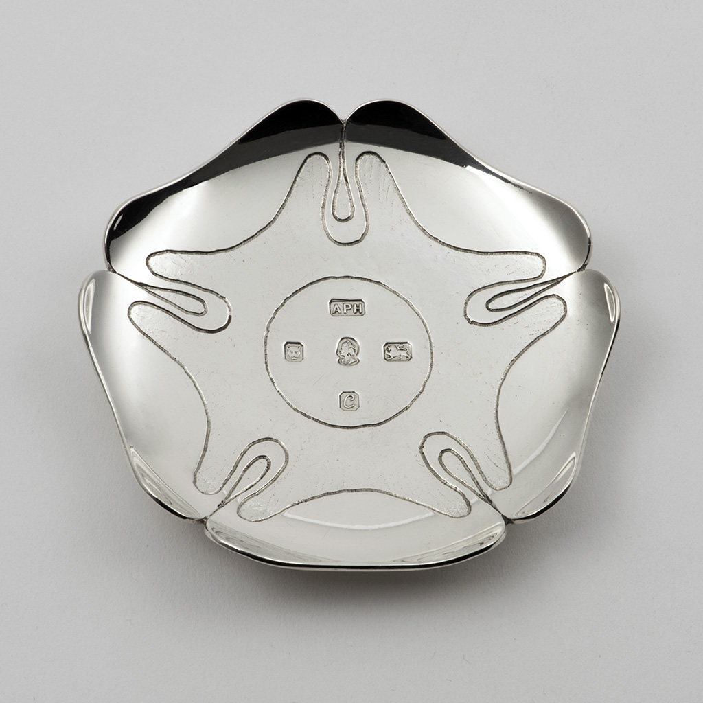 A Small Silver Dish By Anthony Hawksley.