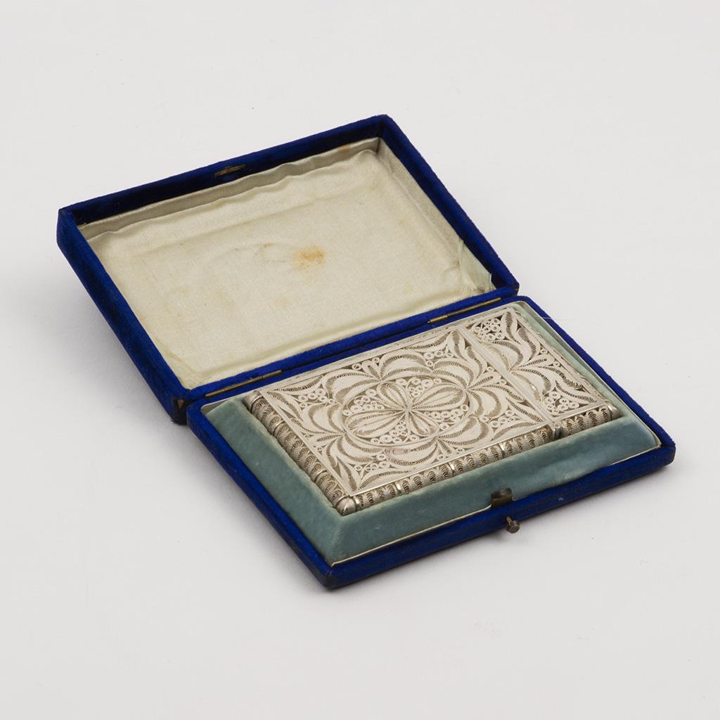 A 19th Century Filigree Silver Card Case.