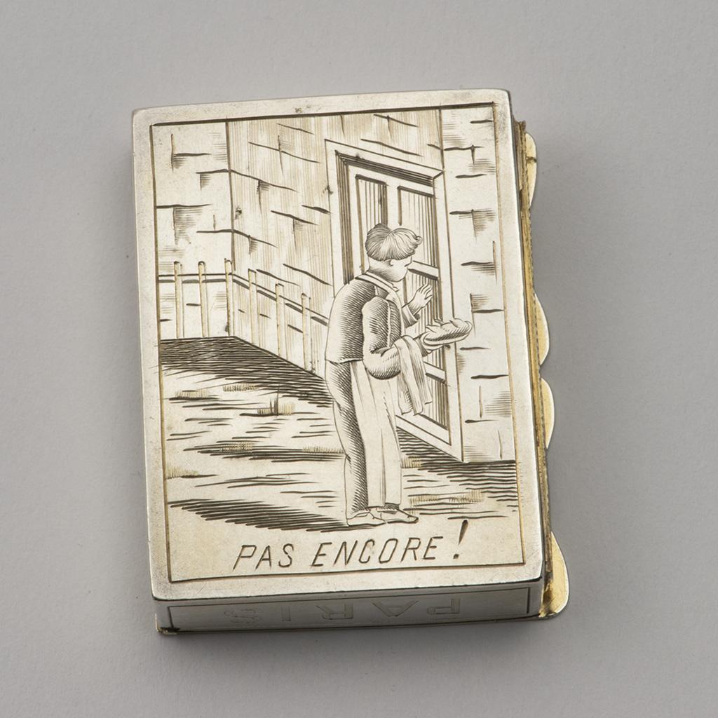 A French Silver Vesta Case.
