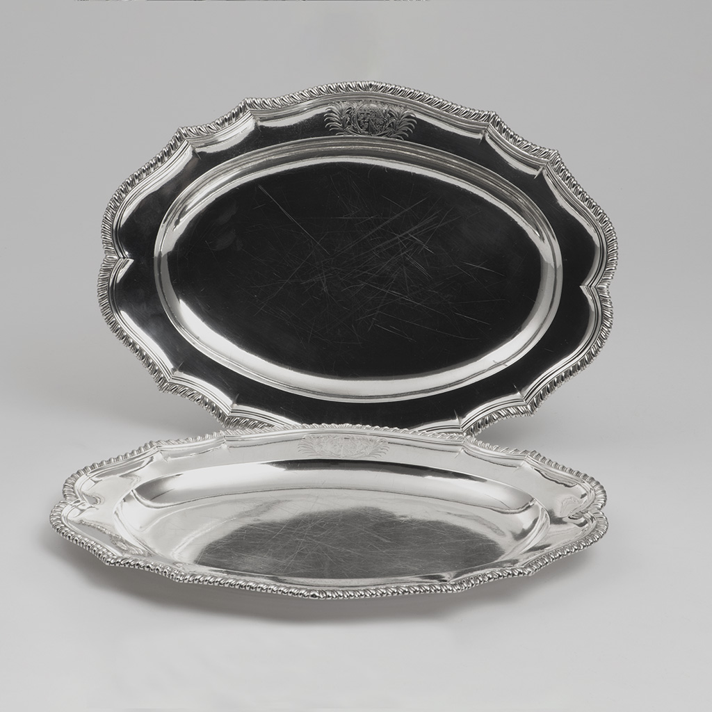 A Pair Of George III Small Silver Dishes For A Wealthy Banker.