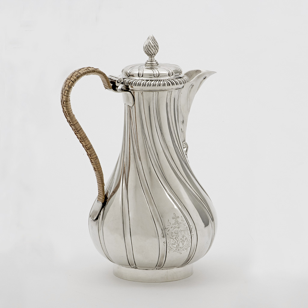 A George III Silver 'Turkish' Coffee Pot.