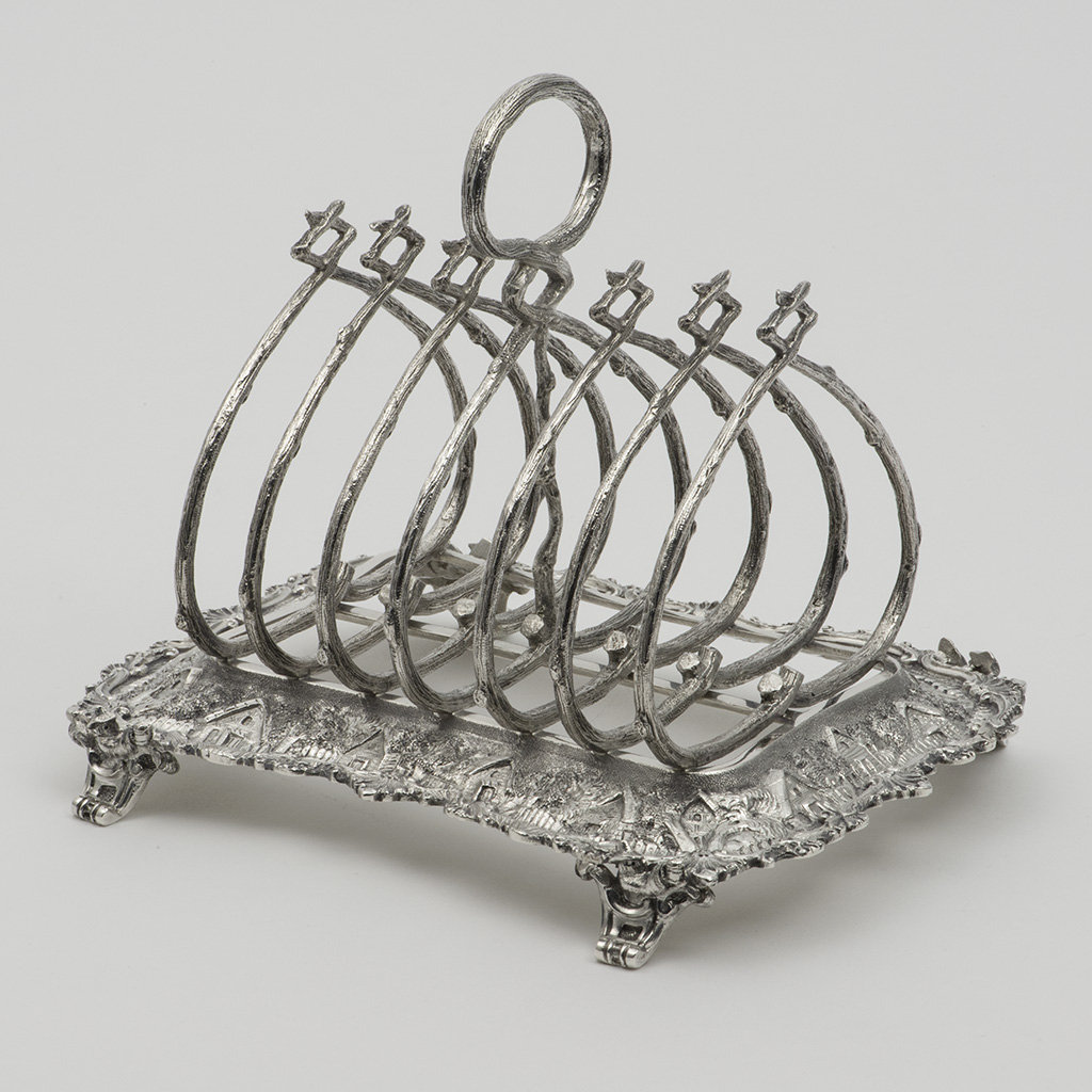 A Victorian Silver Toastrack.