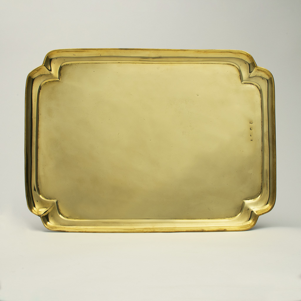 A George I 'French Plate' Brass Tea Tray.