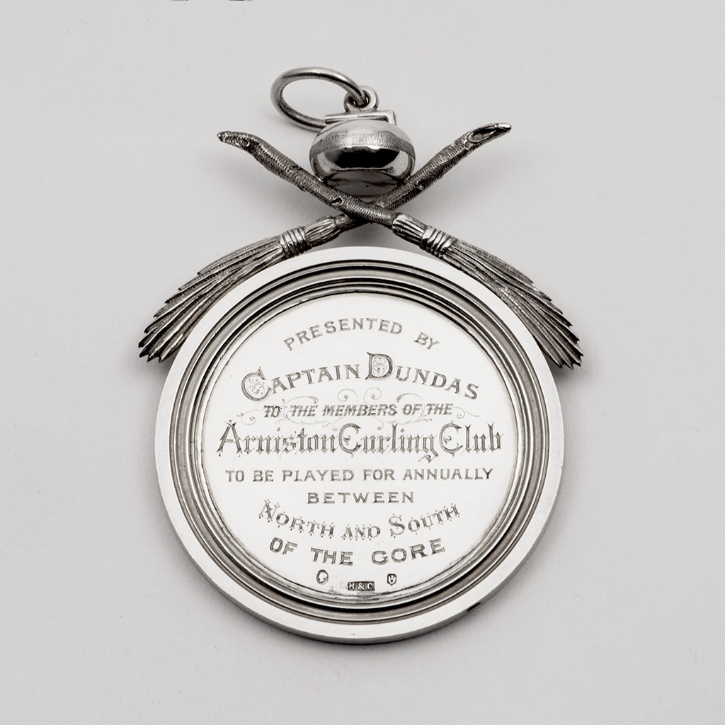 Two Victorian Scottish Silver Prize Medals For Curling.