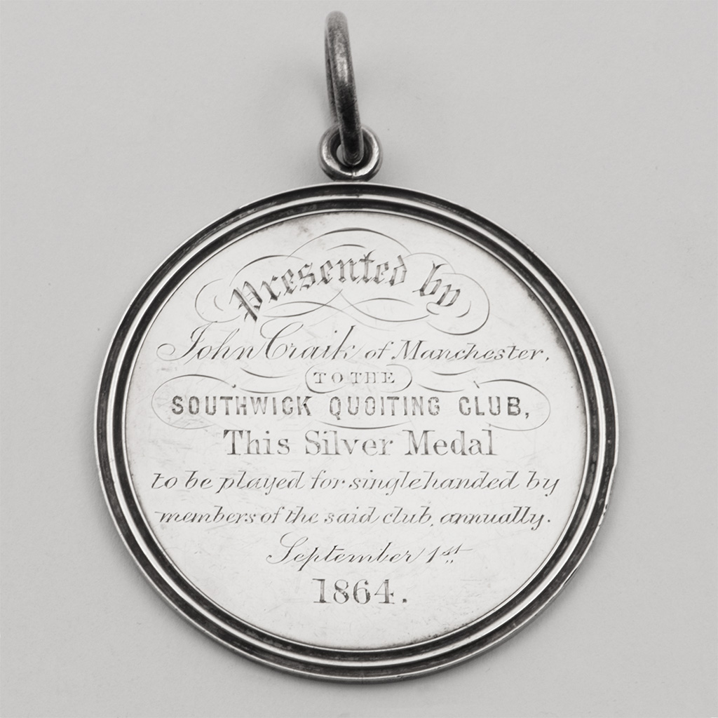 A Victorian Silver Prize Medal For Quoits.