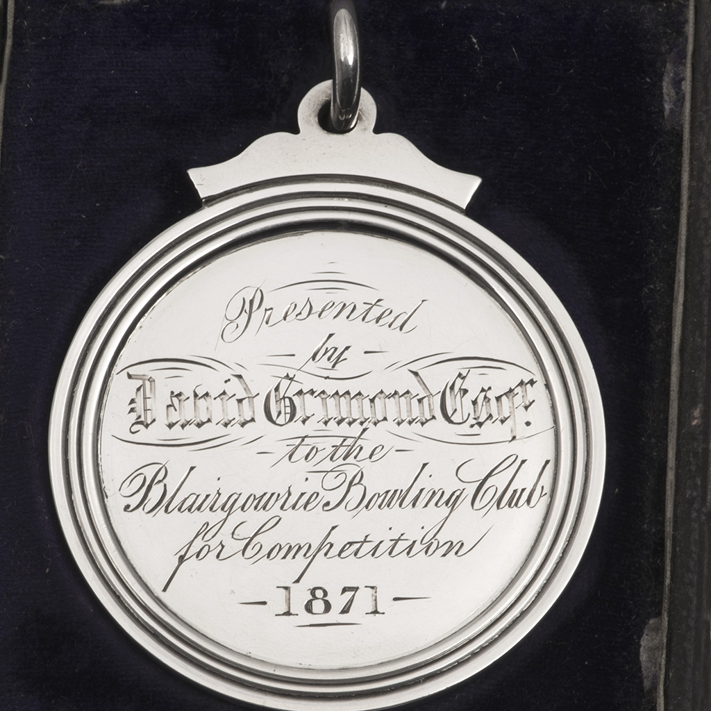 A Victorian Silver Prize Medal For Bowling.