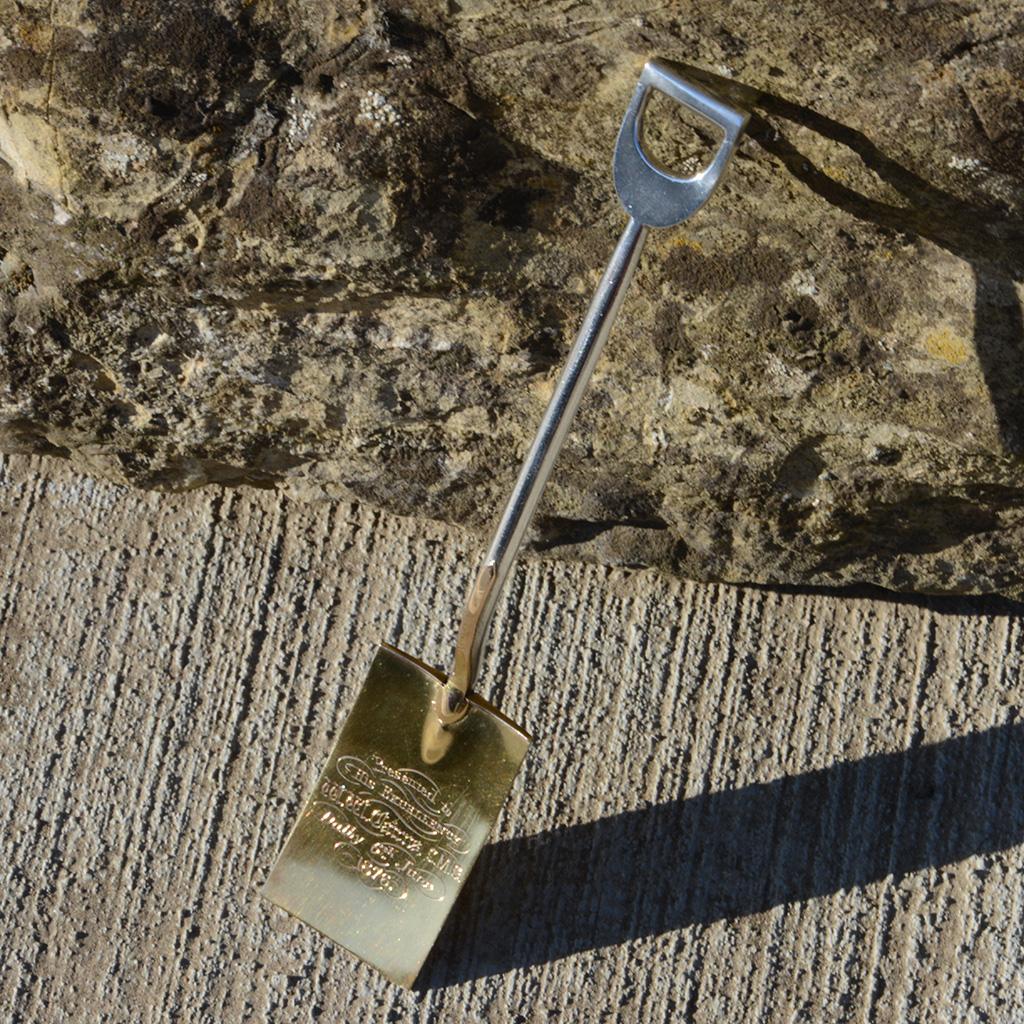 An Exceptional Australian High Carat Gold And Silver Miniature Spade.