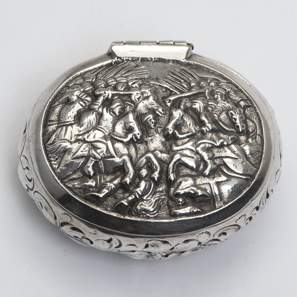 A 17th Century European Silver Snuffbox.