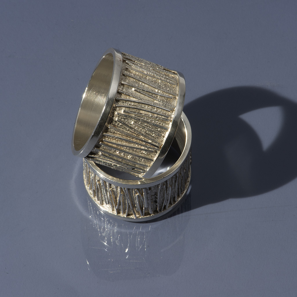 A Pair Of Graham Watling Napkin Rings.
