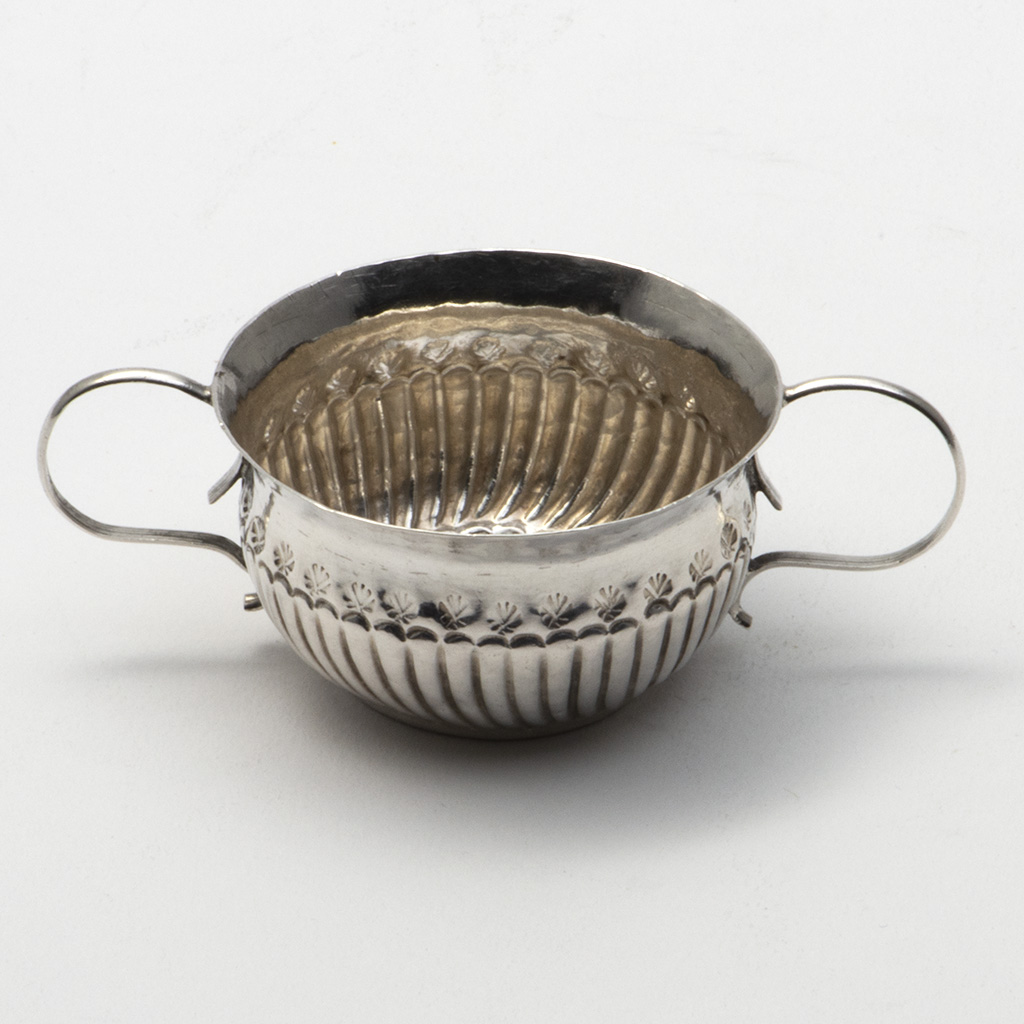 An Early 18th Century English Silver Dram Cup.