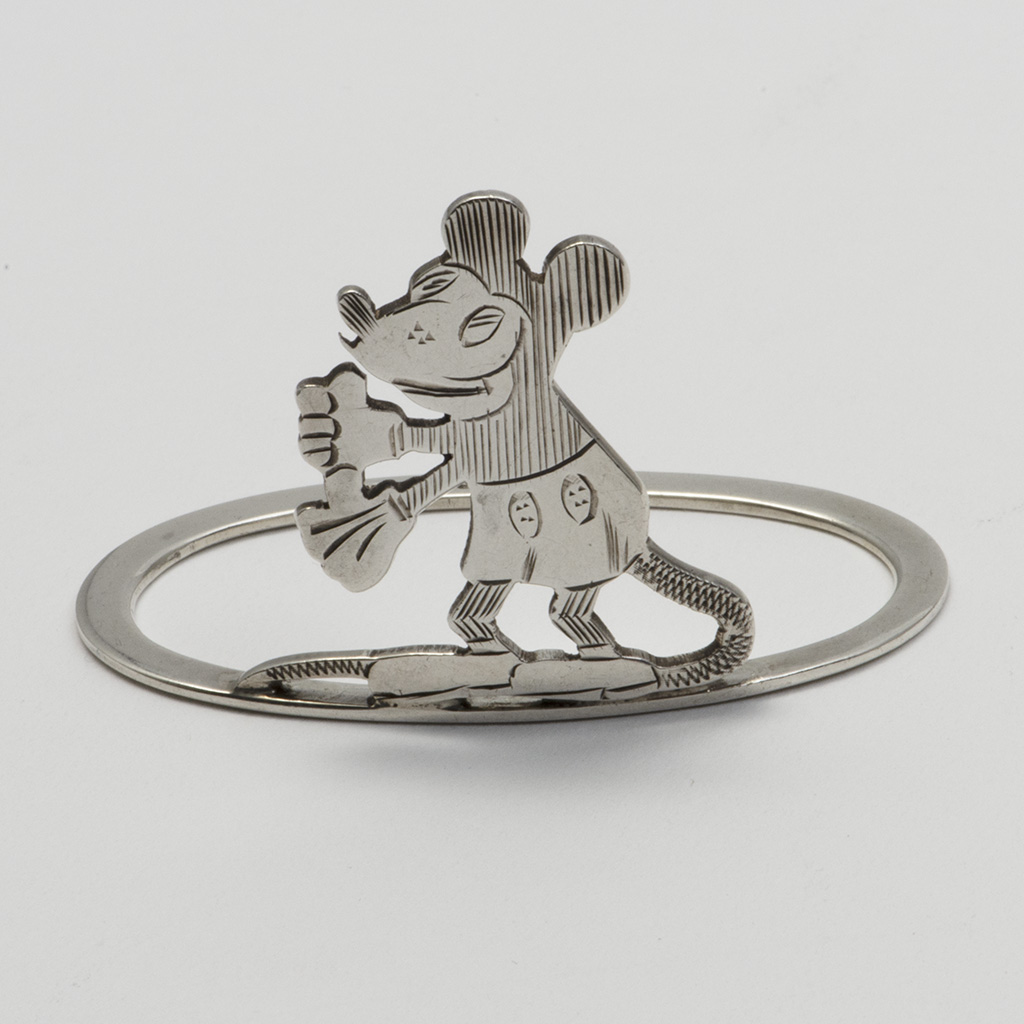 An Early Mickey Mouse Silver Napkin Ring.