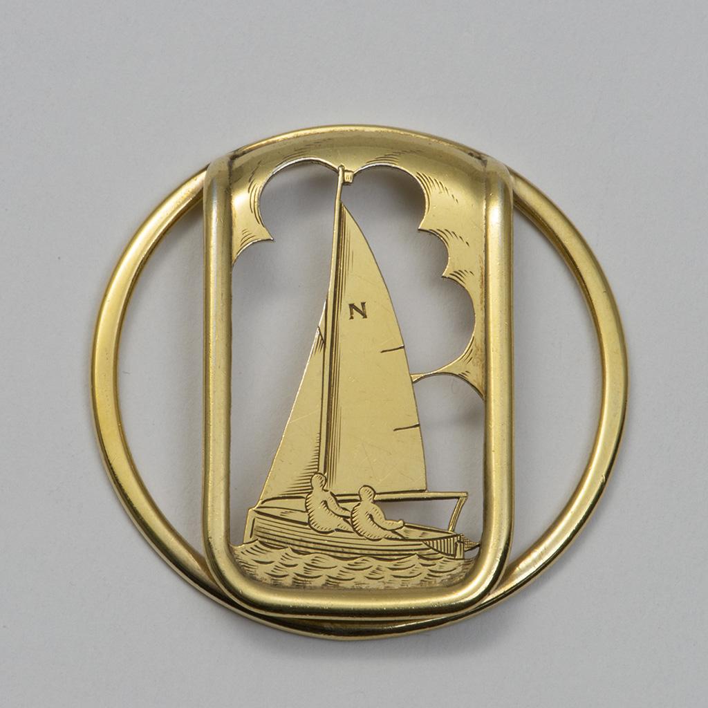 An Asprey And Company Silver-gilt Money Clip For A Yachtsman.