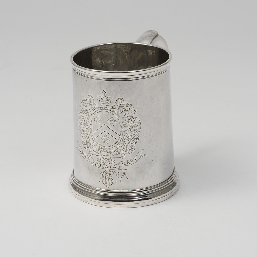 A George I Silver Pint Mug For A Welsh Family.