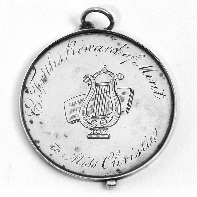 A George III Unmarked Silver English School Prize Medal.