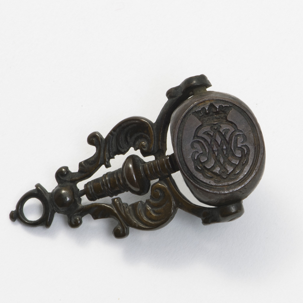 An Early 18th Century Steel And Brass Triple Fob Seal.