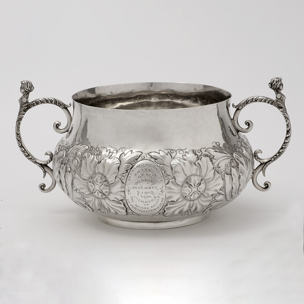 A Large Silver Porringer By The Duchess Of Sutherland's Cripples' Guild.