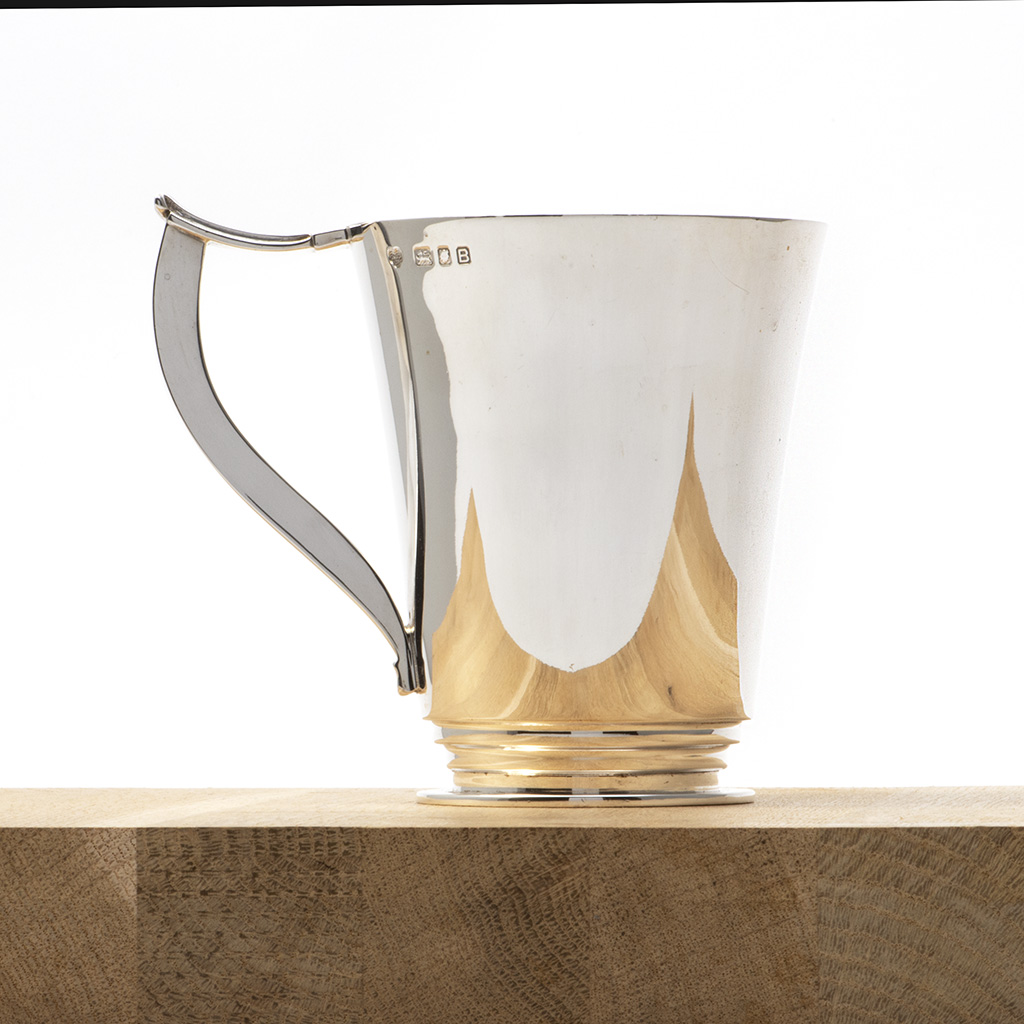 An Art Deco Silver Pint Mug.