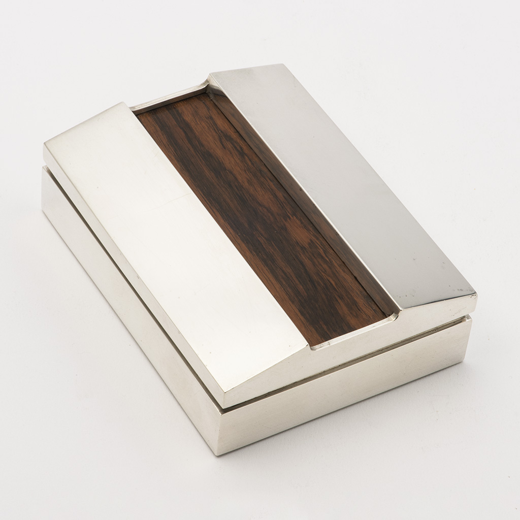 A 20th Century Silver Table Box By Keith Smith.