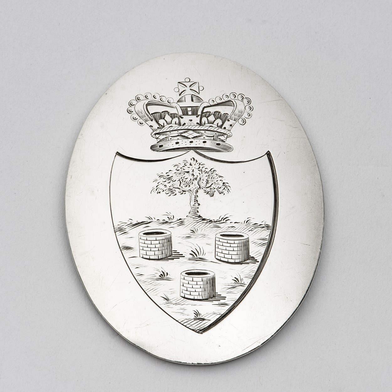 Two Exceptional George III Silver City Of Wells Volunteer Infantry Shoulder Belt Plates.
